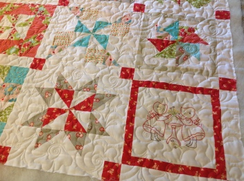 embroidered pinwheel detail