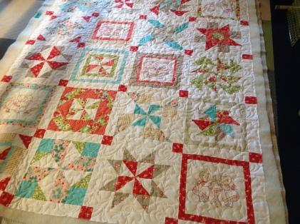 embroidered pinwheel